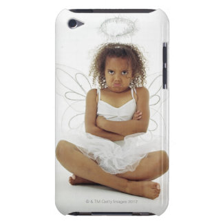 Girl in angel costume iPod touch case