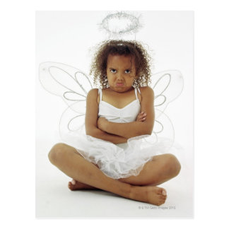 Girl in angel costume postcards