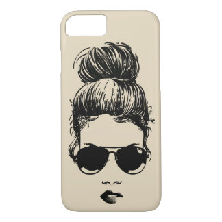Girl in Aviators Cell Phone Case