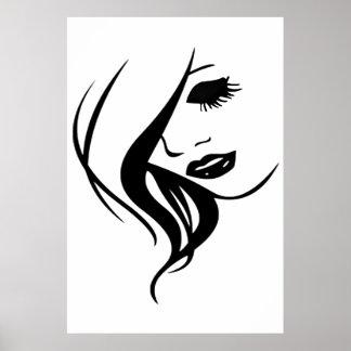 GIRL IN BLACK & WHITE POSTER