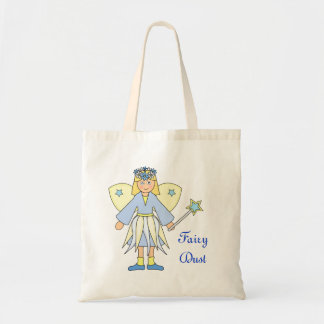 Girl in Blue and Yellow Fairy Costume Canvas Bag