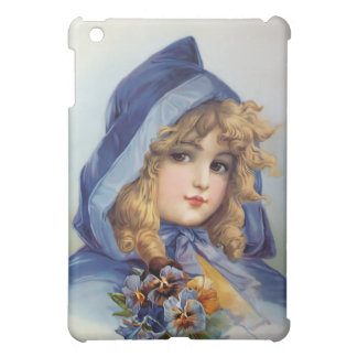Girl in Blue Hood iPad Mini Cases