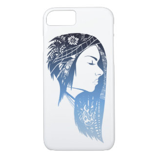 Girl in colour iPhone 7 case