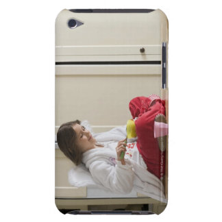 Girl in costume eating cereal iPod Case-Mate cases