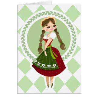 Girl in Dirndl Card