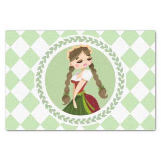 Girl in Dirndl Tissue Paper