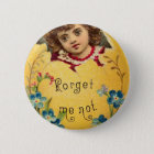 Girl in Egg Forget Me Not 6 Cm Round Badge