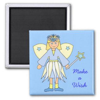 Girl in Fairy Costume -- Blue and Lemon Magnet