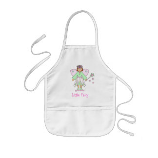 Girl in Fairy Costume -- Green and Pink Kids Apron