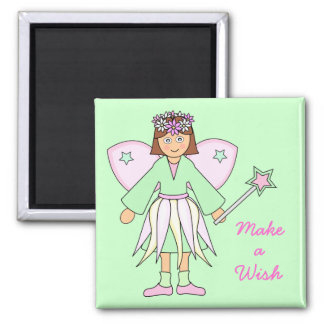 Girl in Fairy Costume -- Green and Pink Magnet