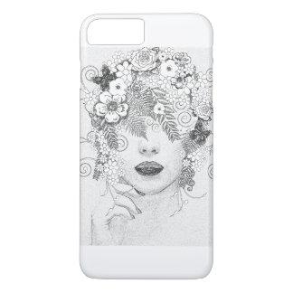 girl in flower iPhone 8 plus/7 plus case