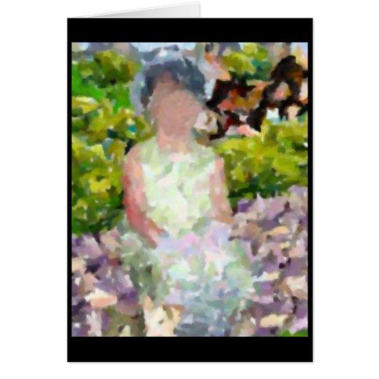 Girl in Garden Card