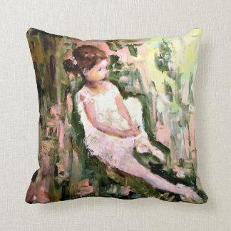 Girl In Garden Cushion