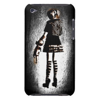 Girl in Goth Barely There iPod Cover