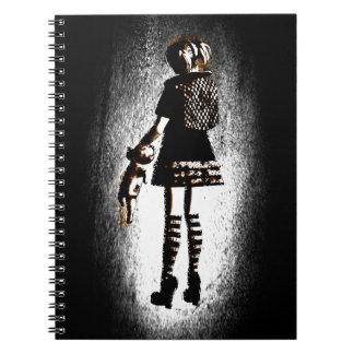 Girl in Goth Notebook