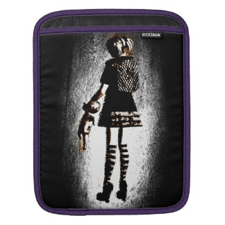 Girl in Goth Sleeves For iPads
