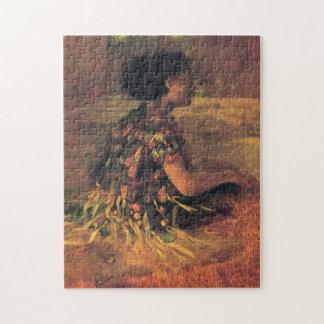 'Girl in Grass Dress' - John LaFarge Jigsaw Puzzle