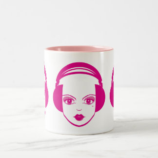 Girl in Headphones Coffee Mug