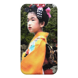 Girl in Kimono iPhone Case iPhone 4 Covers