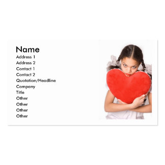 Girl in Love_2 Pack Of Standard Business Cards