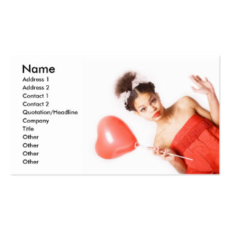 Girl in Love_4 Pack Of Standard Business Cards