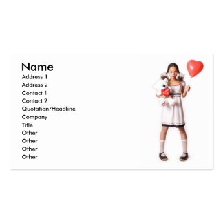 Girl in Love Pack Of Standard Business Cards