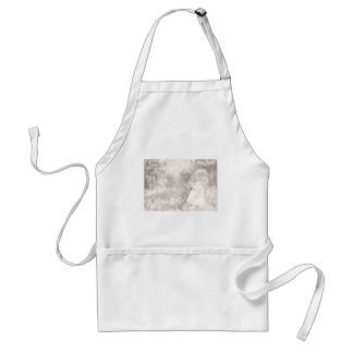 Girl in Meadow Standard Apron