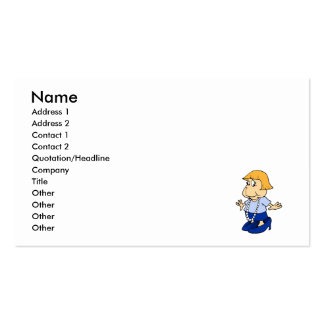 Girl in mommies pearls and shoes pack of standard business cards