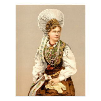 Girl in native costume of Carniola, Austro-Hungary Post Card
