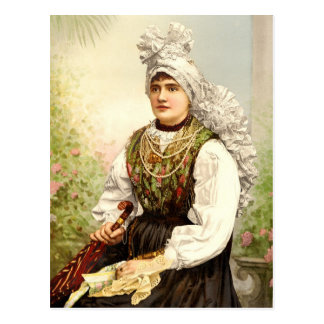 Girl in native costume of Carniola, Austro-Hungary Post Cards