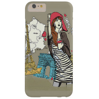 Girl in Paris Chic Barely There iPhone 6 Plus Case