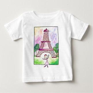 Girl In Paris Eiffel Tower Travel Serena Bowman Shirts