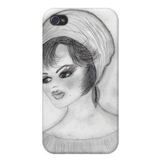 Girl in Pillbox Cap iPhone 4 Case