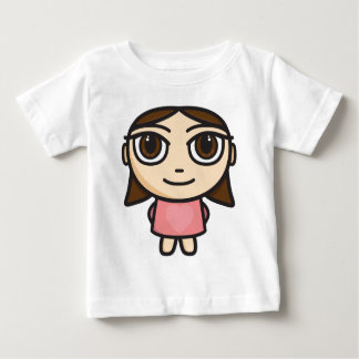 Girl in Pink-Brunette-Brown Eyes Baby T-Shirt