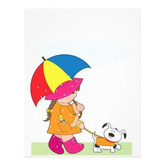 Girl in Rain 21.5 Cm X 28 Cm Flyer