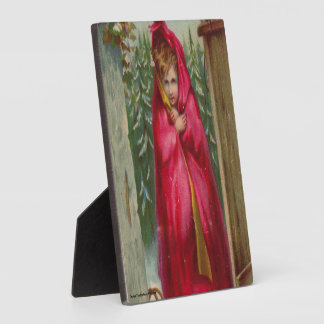 Girl in Red Cape Plaque