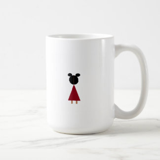 Girl in red dress coffee mug