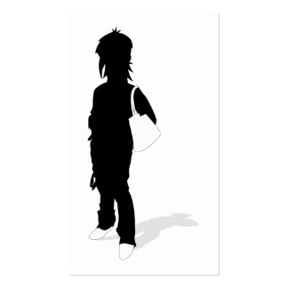 Girl in Silhouette Bookmark Pack Of Standard Business Cards