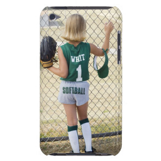 Girl in softball uniform barely there iPod cases