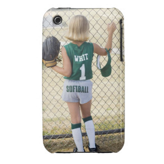 Girl in softball uniform iPhone 3 cover