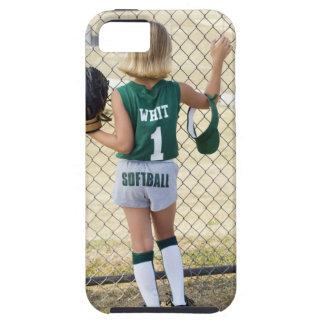 Girl in softball uniform tough iPhone 5 case