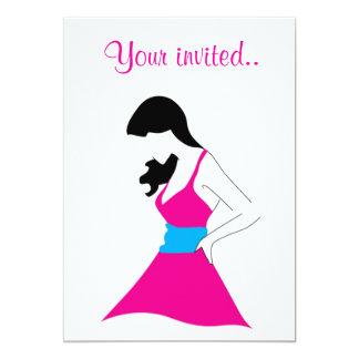 Girl In Sundress 13 Cm X 18 Cm Invitation Card
