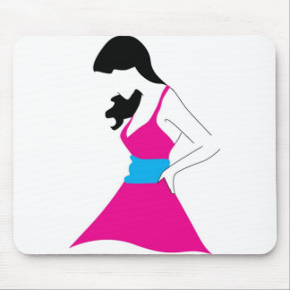 Girl In Sundress Mouse Pad