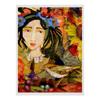 """Girl in the Garden"" Art Print"