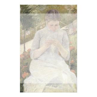Girl in the Garden by Mary Cassatt 14 Cm X 21.5 Cm Flyer