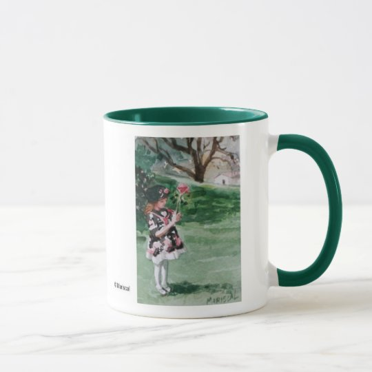 Girl in the park mug