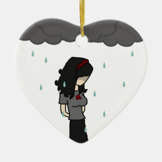 Girl in the rain 1 christmas ornament