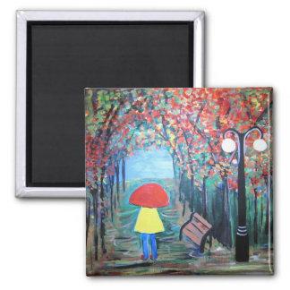 Girl in the Rain Magnet