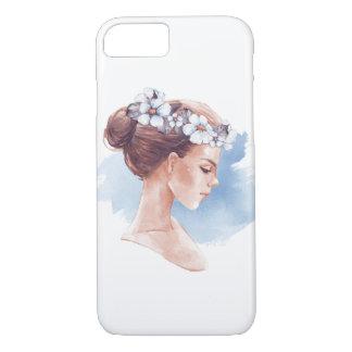 Girl in wreath iPhone 8/7 case