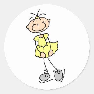 Girl In Yellow Ice Skater Sticker